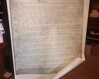 Lot #130, Large very nice multi page copy of the constitution, $12