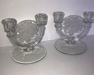 Lot #136, Set of candle holders, $10