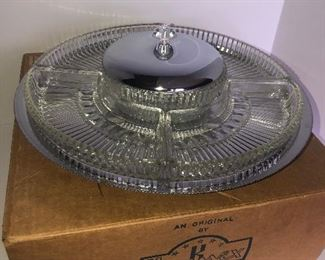 Lot #137, Large Lazy Susan, new in box, $18