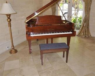 KOHLER & CAMPBELL BABY GRAND PIANO.  MODEL SKG-500S.