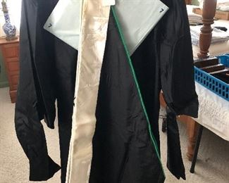 MASTER'S DEGREE ROBE, HAT & HOOD