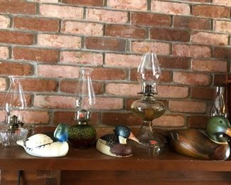 OIL LAMP & DUCK COLLECTION