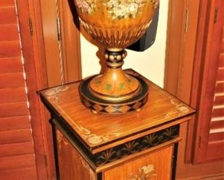 2 piece Maitland Smith console and urn