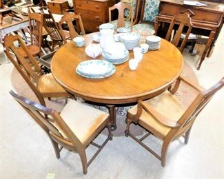 country oak table & 6 chairs