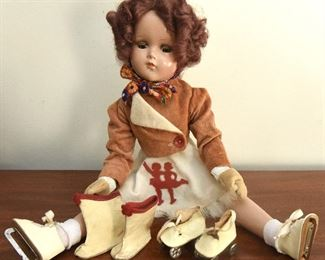 1. Vintage Madame Alexander Sonja Henie Doll $125 One skating outfit, plus roller skates and boots