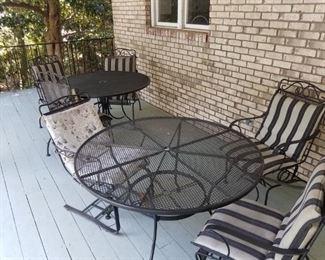 2-3 wrought iron patio sets.