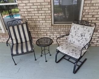 rocking wrought iron chairs