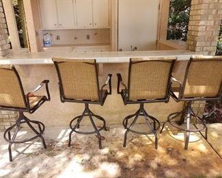 outdoor bar stools.