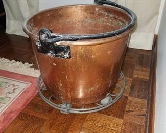 Vintage copper pail, bucket.