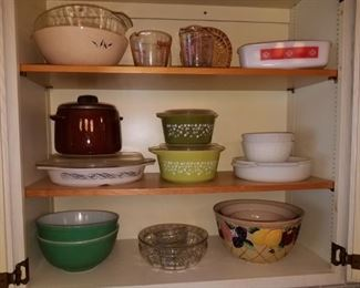 Vintage pyrex, fire king, AH and more.