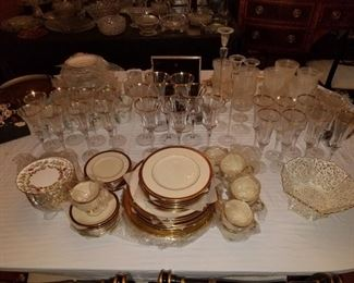Large set of Lenox china