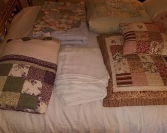 Nice group of hand stitched King size quilts.