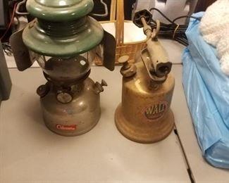 Vintage torch & lantern