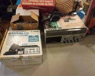 Nice selection of vintage CB radios.