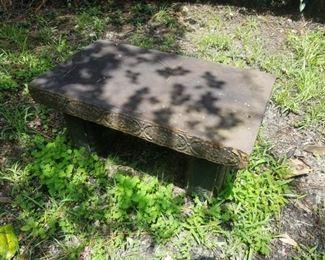 Concrete bench set, both Asian themed
