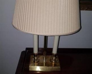 Signed Robert Abbey desk lamp.