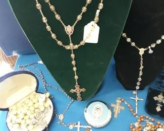 Antique rosaries , have many rosaries to offer