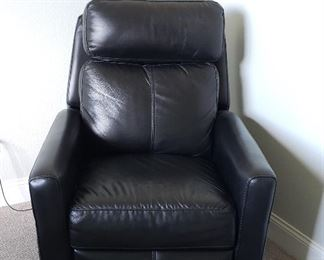 black leather electric recliner