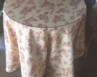 Skirted Table-$75