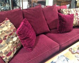 Large sofa and decorative pillows
