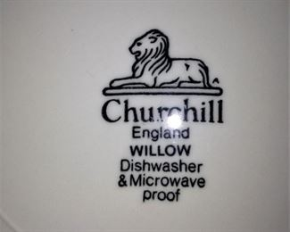 Blue and white dishes - Churchill England