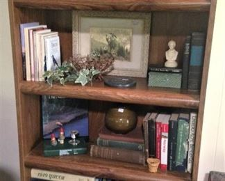 One of two bookcases