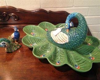 Peacock serving dish