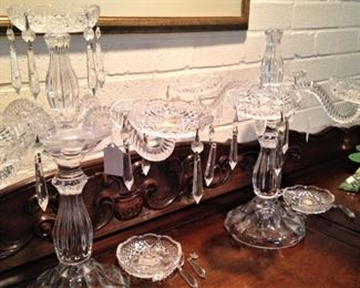 Two vintage epergne (as is)