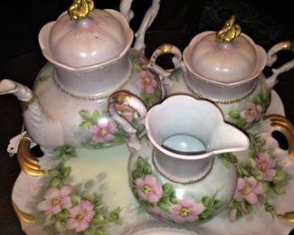 Hand-painted tea set