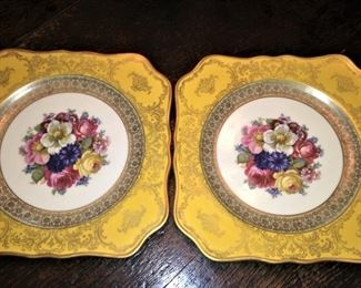 A pair of beautiful plates from Bavaria