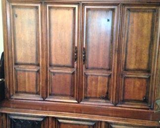 Large entertainment armoire