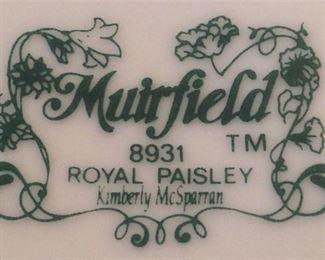"Set of china - ""Royal Paisley"" by Muirfield"