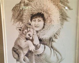 Husky art from Alaska