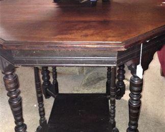 Antique octagon table