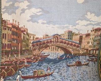 Small tapestry of Venice