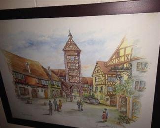 Framed art of  Riquewihr, France