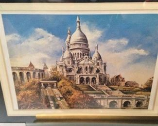 One of 5 small framed famous landmarks from world travels