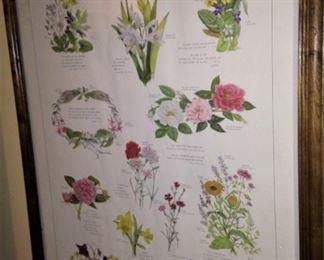 Framed art of Shakespeare's Garden - Flowers from Shakespeare's Plays