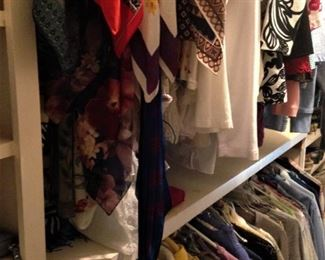 Scarves and blouses