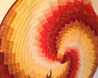 Round quilted wall art