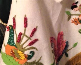 Sequined Christmas tree skirt