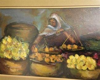 Colorful framed art