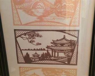 Framed Asian scenes
