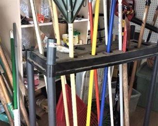 Yard tools and rack