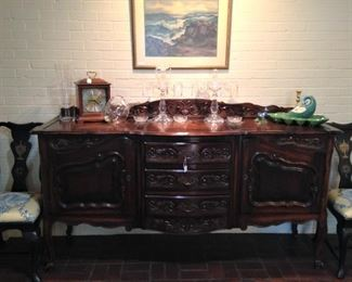 Beautiful buffet provides storage and display