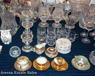 TABLES of Waterford Crystal