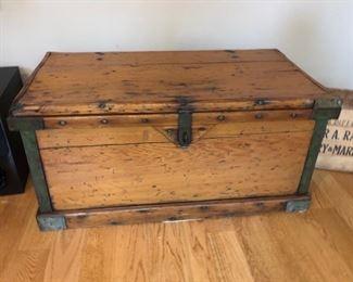 """Antique trunk - 37"""" wide x 19"""" deep x 18"""" high - $350"""