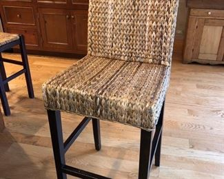 """(4) wicker kitchen stools - 32"""" high to seat x 47"""" high to back - $60 each"""