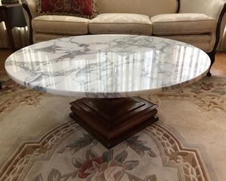 Marble topped coffee table - $250