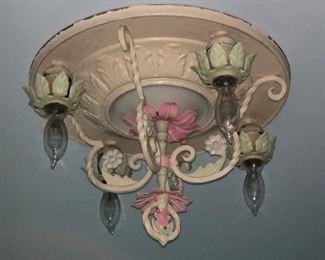 Antique light fixture - $200